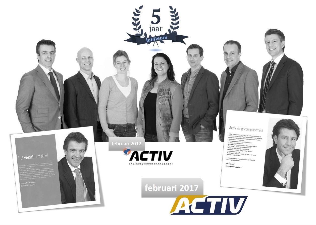 Jubileum Activ 2012-2017